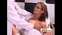 Nurse lets the doctor penetrate her with his bi...