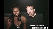 Ebony Freak Has Porn Theater Group Sex