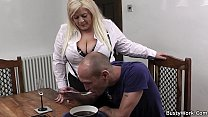 stockings in secretary blonde busty fucks Boss