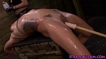 Shibari slave flogged