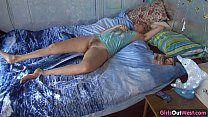 hairy blonde amateur horny in the morning
