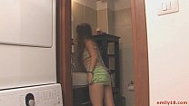 closet in topless goes Teen