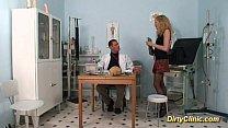 she is taking the docs penis in deepthroat