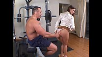 gym the in ass the up banged rack nice a with brunette Hot