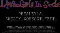 Presley's Sweaty Workout Feet - www.c4s.com/898...
