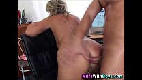 applicant with fuck anal boss mature Blonde
