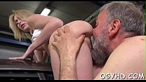 young playgirl licked by an old guy