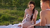 teen honey takes a fat cock at the picnic