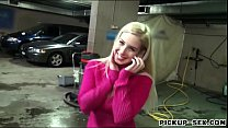 Pretty Eurobabe Ellen fucked in car park for a few bucks
