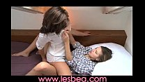 lesbea feel the juices soak through her panties and we know she is ready