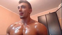 bulgarian bodybuilder oiled himself