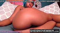 BAD BITCH MSNOVEMBER SHAKING HER HUGE NATURAL T...