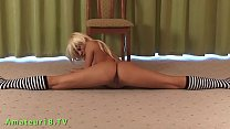 beautiful flexible blonde gymnast