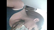 hot selfshot babe shows her sexy body on a plane sucking on a lolly..really hot