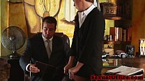 Classy redhead officebabe banged by the boss porn videos