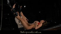Romanian blonde slut painful whipped and waxed ...
