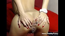 Sweet Chick Masturbates Her Asshole And Pussy O...