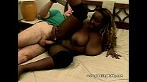 big titted ebony hottie fucks old guy