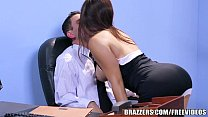 threesome stocking office - Brazzers