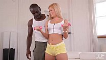 Yoga Mat Banging - Huge Black Dick Crams Shaved...