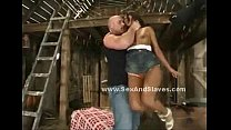 indonesian slut choked and humiliated by master in violent sex in filthy barn