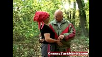 fucking outdoor to in Granny