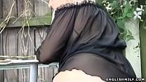 outdoors ass flashing stockings in milf butt Big