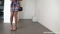 Gorgeous black amateur squeals while getting po...