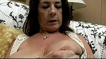 naughty old spunker with nice big knockers loves to fuck her juicy pussy