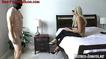Yoga pants on femdom Mistress help Her dominate...