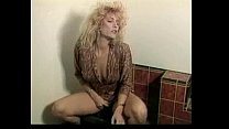 Powder-room pussy pounding by two HOT hi-heeled...