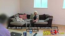 FakeAgentUK Glamour model turns cock jockey in fake casting