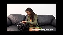couch casting on teen 4 Creampie