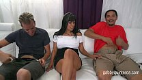Gabby Quinteros gets Double Teamed By Her Horny...