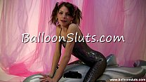 Horny Spandex Girl humping inflatable whale