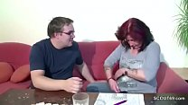 German Mom Show His Step-son how to Fuck a Girl porn videos