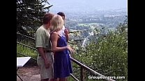 Outdoor sex party with some unbelievable porn videos