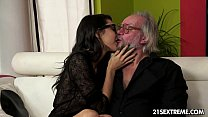 Geek girl Carolina loves to fuck older guys porn videos