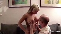 step dad seduce young german girl to fuck when mom away