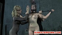 slave chained of whipping masters bdsm Old