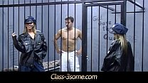 Burning mff 3some in the prison