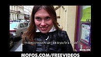 Curious Czech brunette is convinced to fuck for...