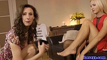 English mature loves lesbo play with teen