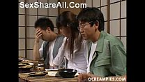 asakawa rei jerks off her dates under the dinner table