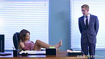 brazzers   cassidy banks gets some big white cock at work