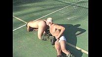 Guys fucking on tennis court