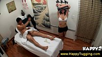 Asian slut of a masseuse wants your dick