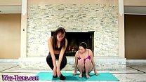 Little yoga les licking