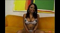 Hot ebony slut sucking on big cock and enjoys g...