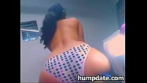 sexy brunette babe with hot booty teasing